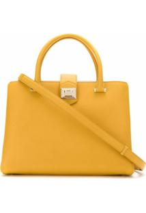 Jimmy Choo Bolsa 'Marianne' De Couro - Amarelo