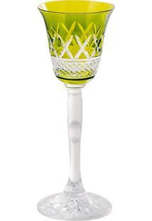 Taça De Cristal 60Ml Verde Lodz