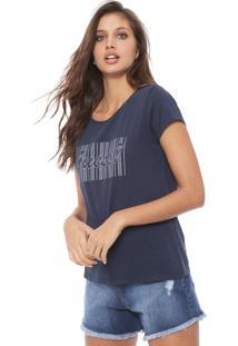 Blusa Guess Estampada Azul-Marinho - Kanui