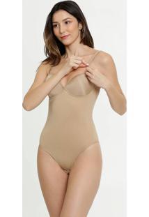 Body Feminino Modelador Com Bojo Slim Loba