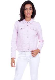 Jaqueta Jeans Levis Trucker Original - Feminino-Rosa