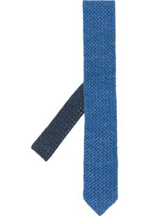 Etro Gravata De Tricô - Azul