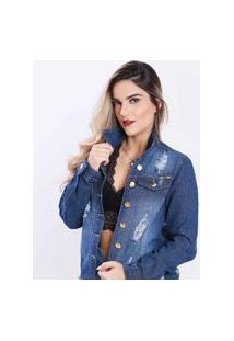 Jaqueta Jeans Feminino Djak 2111706