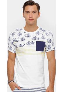Camiseta Triton Bolso Contraste Summer Masculina - Masculino