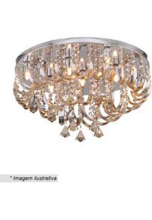 Hevvy Plafon Com Ornamentos Cristal 30Xã¸55Cm Bivolt