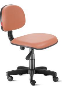 Cadeira Secretária Giratória Courvin Laranja Escura