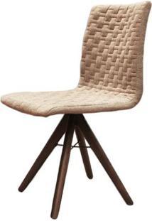 Cadeira Sun Linho Marrom Mescla Base Cone Giratoria - 42453 - Sun House