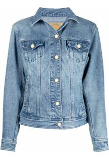 Michael Michael Kors Jaqueta Jeans - Azul