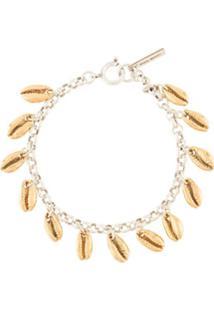 Isabel Marant Bracelete Skull Charm - Prateado