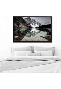 Quadro Love Decor Com Moldura Alpes Suíços Preto Grande