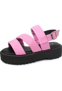 Sandália Tratorada Damannu Shoes Alexia Soft Rosa