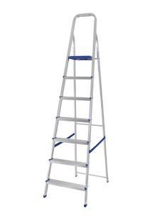 Escada Alumínio 7 Degraus - Unissex-Prata