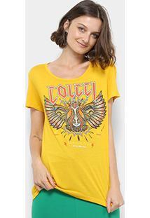 ... Camiseta Colcci Estampada Feminina - Feminino-Amarelo 69e3804d0b7