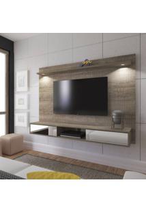 Painel Para Tv Até 47 Polegadas 2 Portas Com Espelho E Led Platinum Artely Canela