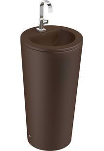 Cuba De Piso Cilíndrica Marrom Fosco 45Cm Lc1272 - Deca - Deca