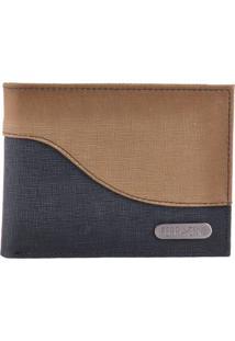 Carteira Ferracini Metisco Azul/Jeans Areia Uni C