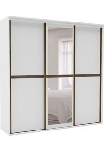Guarda-Roupa Casal Sofisticato I Com Espelho 3 Pt 6 Gv Branco