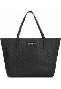 Jimmy Choo Sofia Leather Tote Bag - Preto