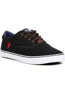 Tênis Casual Masculino Polo Shoes Vintage Preto