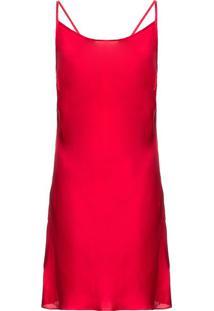 Camisola Curta Sem Manga Cetim Betty Boop Vermelha