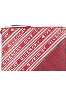 Givenchy Cutch Com Estampa De Logo - Vermelho