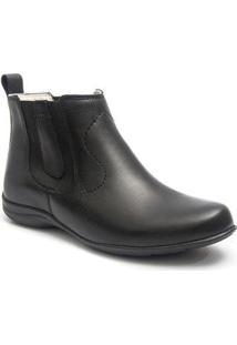 Bota Roed Shoes Botina Casual Feminina - Feminino-Preto