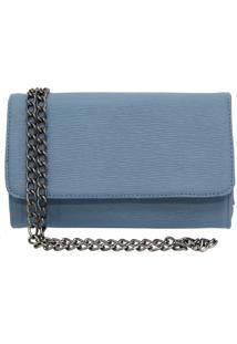 Bolsa Sandiee Clutch Pequena Azul Bebe - Kanui