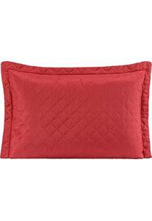 Porta Travesseiro Mr Microfibra 01 Peça Matelado Ultrassônico - Vermelho