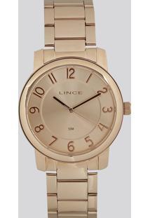 Relógio Analógico Lince Feminino - Lrr4439L R2Rx Rosê - Único