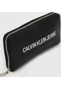 Carteira Calvin Klein Logo Preta