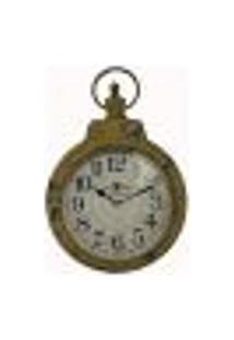Relógio De Parede Tipo Bolso Amarelo Envelhecido
