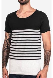 Camiseta Recorte Listrado 101663