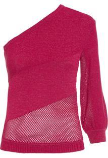 Blusa Feminina Fresh Lurex - Vermelho