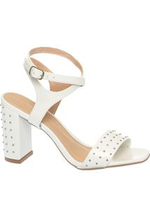 Sandália Branca Cravinhos