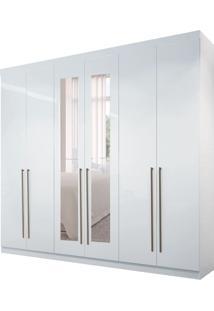 Guarda-Roupa Casal Com Espelho Imaginare 6 Pt 4 Gv Branco