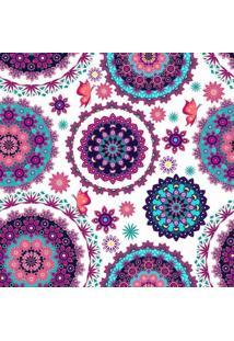 Papel De Parede Adesivo Floral Mandala