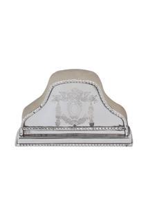 Porta-Guardanapos Decorativo Banho De Prata Arni - Unissex