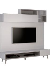 Estante Home Para Tv 49 Polegadas Tetris Cinza E Titânio