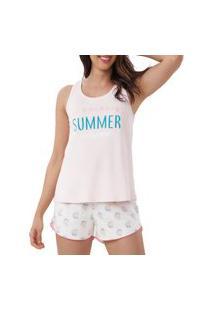 Pijama Cor Com Amor 12402 Feminino Gg Rosa Unica