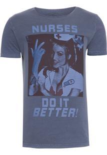 Camiseta Masculina Nurses - Azul Marinho