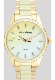 Relógio Analógico Mondaine Feminino - 53663Lpmvde1 Dourado - Único