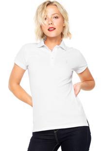Camisa Polo Aleatory Logo Branca