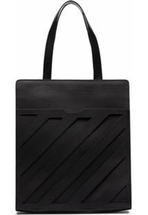 Off-White Leather Tote Bag - Preto