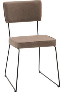 Cadeira Roma Aço Tecido Daf Bege