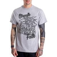 3d615a4a93596 Camiseta Hypnotic - Âncora Strength   Faith - Cinza Mescla
