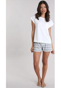 Pijama Com Bolso Off White