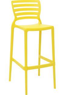 Cadeira Alta Tramontina 92137000 Sofia Com Encosto Vazado Amarelo