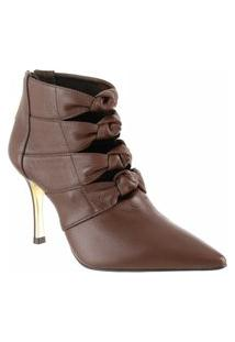 Bota Ankle Boot 80209 - Saara Marrone