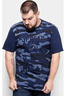Camiseta Local Plus Size Camuflado Masculina - Masculino