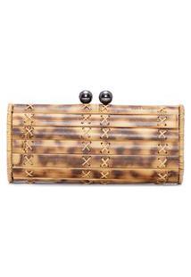 Bolsa Feminina Clutch Baobá Bag Onix - Bege
